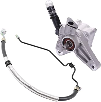 OCPTY 21-5442 365543 Power Steering Pump Kit Fits for 2005-2007 Honda Odyssey with Pressure Hose Assembly 2Pc