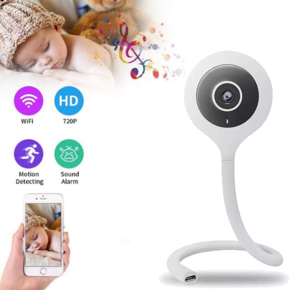 Zeerkeer Baby Camera Wifi C/ámara de seguridad Inal/ámbrica IR Visi/ón nocturna Lupa incorporada Notificaciones de video push 720P