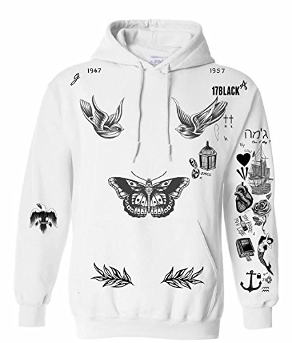 05ad64e38adb PopStarTats Updated Harry Styles Tattoo Sweatshirt Hoodie - Buy Online in  UAE.