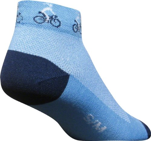 SockGuy Women's Ponytail Sock: Blue; SM/MD
