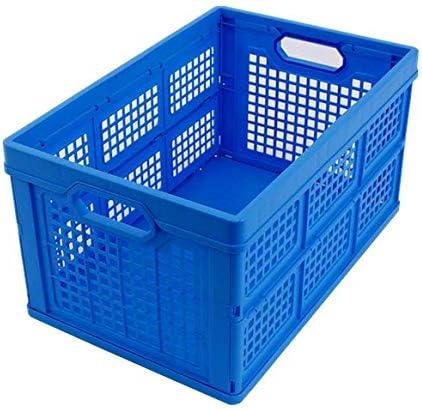 CAJA PLEGABLE 40L, Made in Germany, 53x35x28 cm, caja de transporte de plástico, caja de compra, caja de transporte, máx. 175kg, azul: Amazon.es: Bricolaje y herramientas