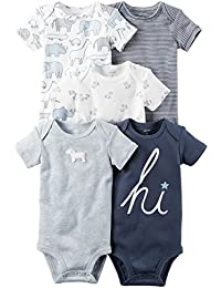 William Carter Baby Boys' 5 Pack Bodysuits (Baby) Navy...
