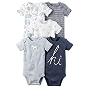 Carter's Baby Boys' 5-Pack Bodysuits Newborn