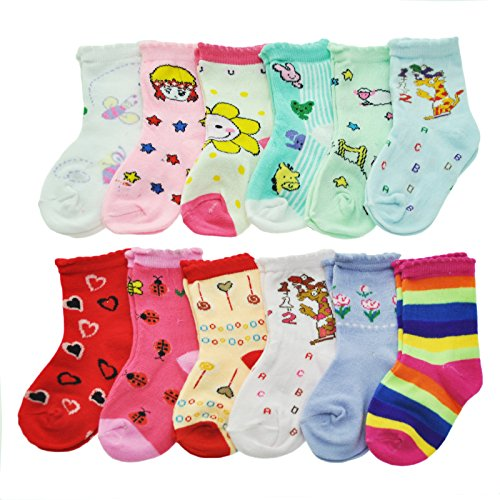 Angelina Girls Assorted Designs 12 Pack