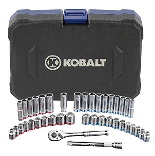 Piece Socket 40 Tool (Kobalt 40-Piece Standard and Metric Mechanics Tool Set with Hard Case)