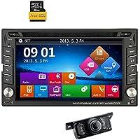 Backup Camera Windows 8 6.2 HD GPS Navigation 2 Din Car Stereo DVD Player In dash Radio Bluetooth USB SD AUX iPod MP3 PC