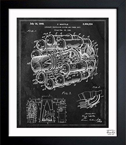 vintage airplane blueprint - 1