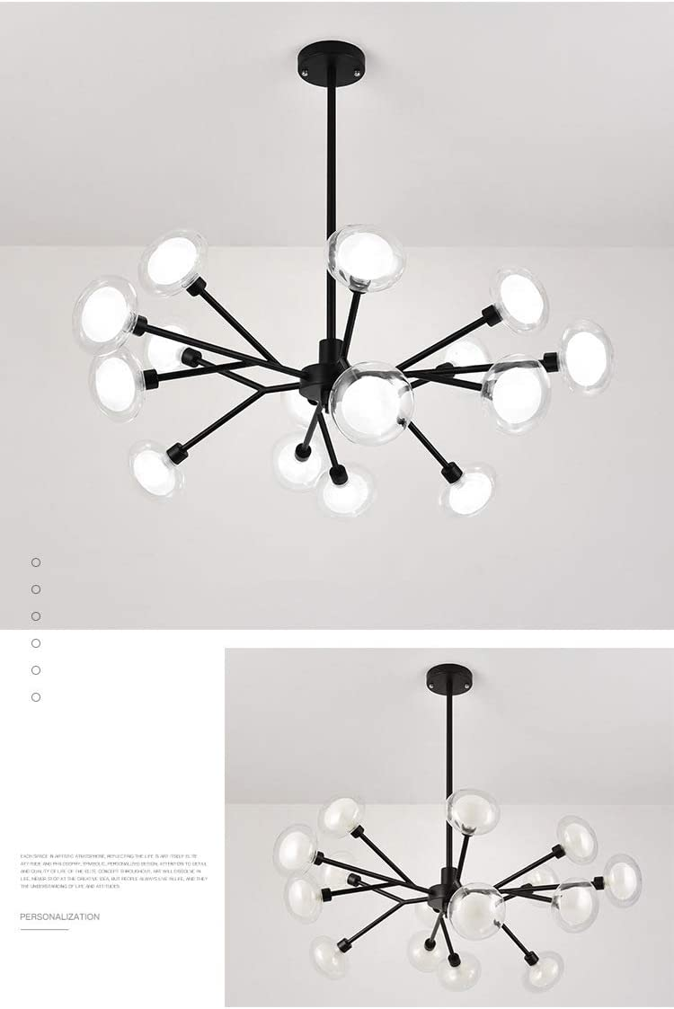 Sputnik Chandelier Lighting Glass Sphere Modern Pendant Light G9 ...