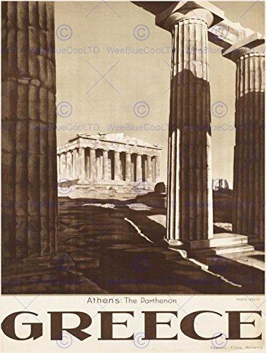 TRAVEL ATHENS GREECE PARTHENON ACROPOLIS ANCIENT COLUMN ART PRINT POSTER -