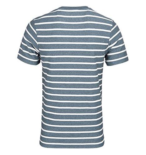 Farah Pickering Fischgrätenmuster Stellar Blau Marl T-Shirt