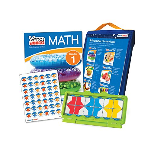 Math Games by VersaTiles, Self Guided Puzzle Workbook and Self Checking Answer Case