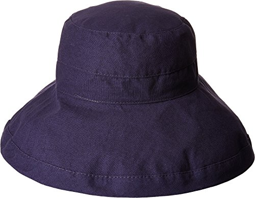 Dorfman Pacific Women's Summer Sun Hat, Navy, One Size (Canvas Hat Scala)