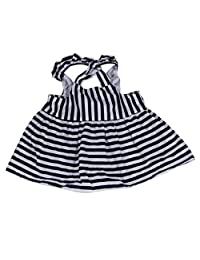 OCEAN-STORE Dress Brief Set Baby Girls Clothes Summer Sunsuit Infant Outfit Stripe Backless