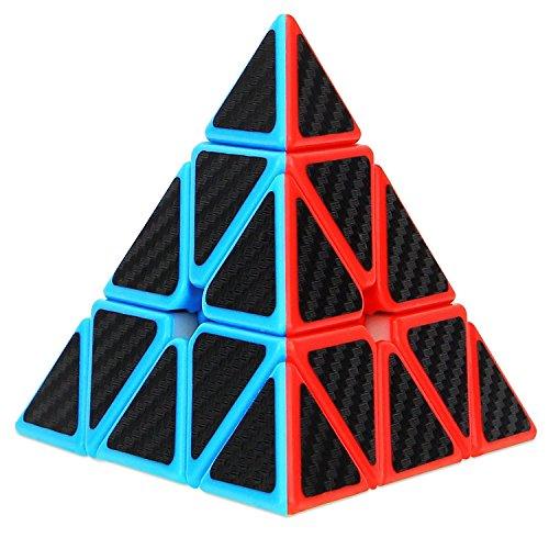 Aiduy Speed Cube 3x3 Pyraminx Autocollant de Carbone Fibre, Triangle