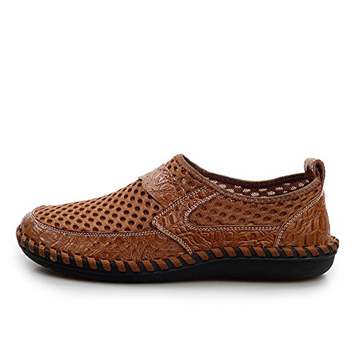AgeeMi Shoes Herren Slip On Rund Zehe Leichte Turnschuhe Casual Schuhe Braun