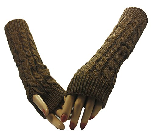 Khaki Twin Cross Arm Warmer Gloves