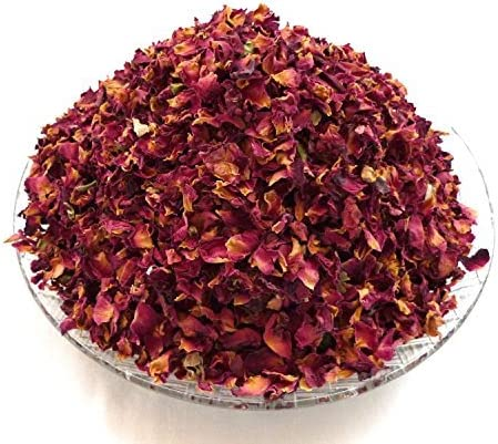 100 grams of Dried Dark Red Rose Petals (larger petals) Real ...