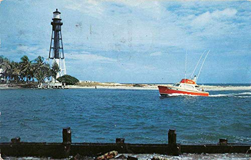 - Pompano Beach Florida Hillsboro Lighthouse Vintage Postcard J2531283