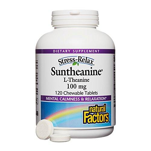Natural Factors - Stress-Relax Suntheanine L-Theanine, 100mg, 120 Chewable Tablets by Natural Factors (Image #1)