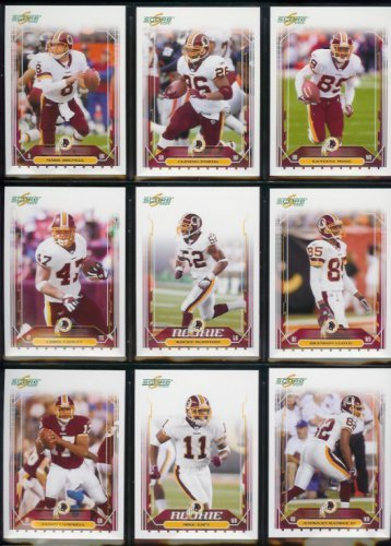 2006 Score Washington Redskins Football Card Complete Set of 15 Cards including Clinton Portis, Antwaan Randle El and Santana Moss plus rookie cards of Brandon Kirsch, Kenny Wright, and Rocky McIntosh.