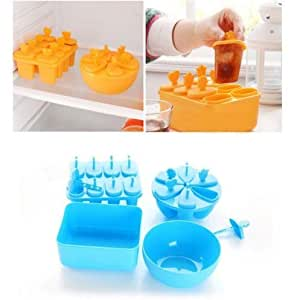 CXLKST Ice Pop Popsicle Mold Maker Frozen Dessert Treats DIY Tray Pan