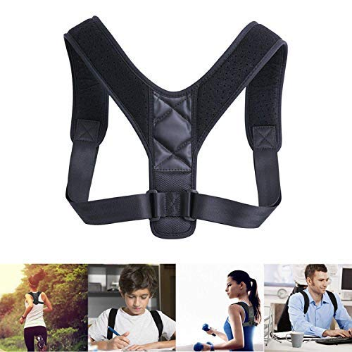 Back Posture Corrector for Men and Women - Comfortable Upper Back Brace Clavicle Support Device - Adjustable Shoulder Support for Pain Relief from Neck, Back & Shoulder
