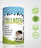 Pure Hydrolyzed Collagen Peptides + Instant Grade A Coffee, Dietary Supplement, Grass Fed, 30 Servings, Added Biotin, Promotes healthy Skin, From Farm to Bottle