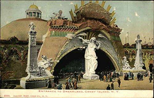 Island Dreamland Coney (Entrance to Dreamland Coney Island, New York Original Vintage Postcard)