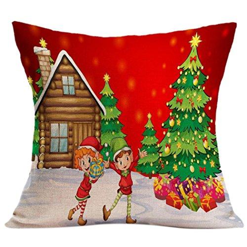 [Pillow Case,Vovotrade Christmas Sofa Bed Home Decor Pillow Case Cushion Cover 45cmx45cm/17.7