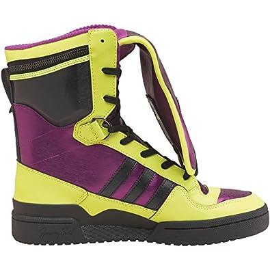 b1335e42b45a Adidas Originals Jeremy Scott Tall Boy Hi Tops Yellow Black UK Size 9   Amazon.co.uk  Shoes   Bags