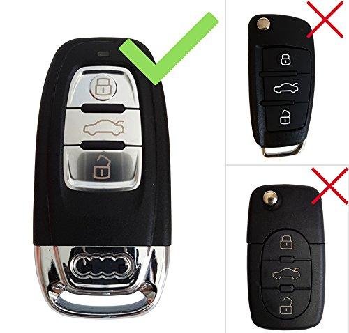 CK + Audi Auto de llave Carcasa ABS plástico Key Cover Case Funda para A1 A3 S3 A4 A5 A6 Q3 Q5 Q7 TT R8: Amazon.es: Electrónica