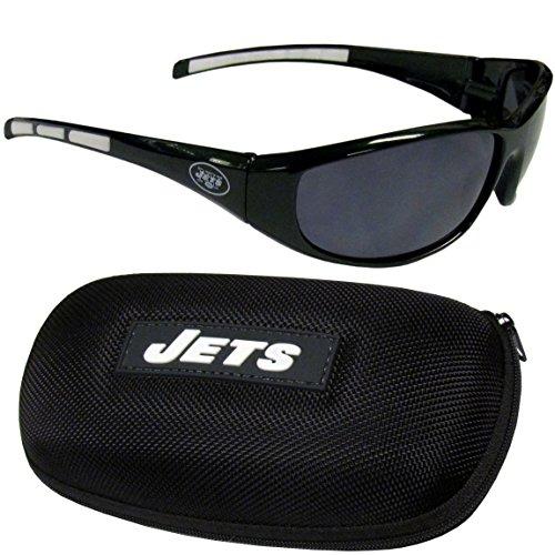 Siskiyou NFL New York Jets Wrap Sunglasses & Zippered Case, Green