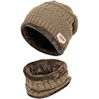 VBIGER Kids Winter Hat and Scarf Set 2-Pieces Warm Knit Beanie Cap and Scarf