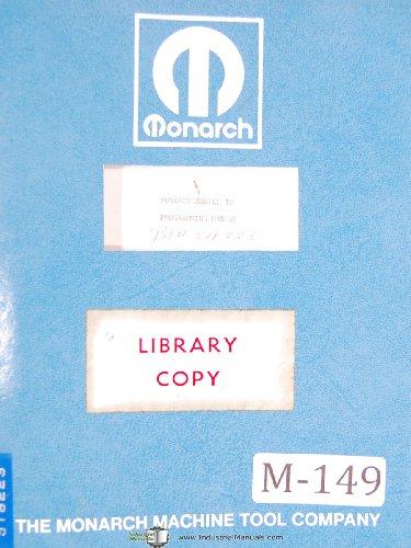 (Monarch Series 10 CNC Lathe Programming Manual Year (1967))
