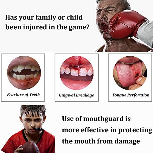 Youth Mouth Guard Football Sports Kids Adults Boys Mouthpiece Protective EVA