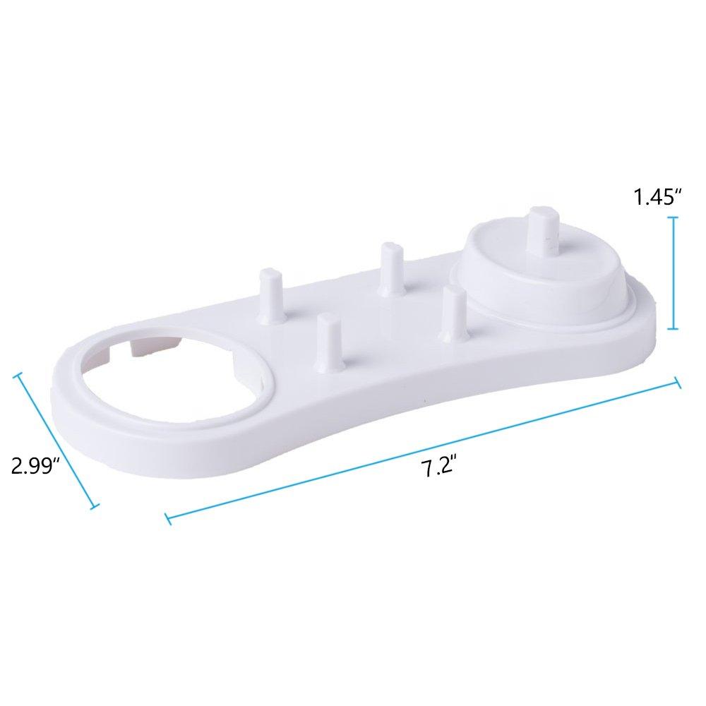 Progoco Brosse /à dents /électrique support pour t/ête de salle de bain Plastique Base chargeur pour Oral B T/êtes de brosse de rechange et poign/ées de batterie Set 1