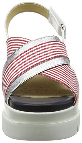 Geox Women D Radwa A Flatform Sandals Red (Red/White C0003) cheap sale eastbay reliable cheap online pzXa2