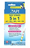 25 Ct. 5 in 1 Aquarium Tester Strips Easy to Read Accurate Results Saltwater Check Foremost Popular Water Kits with Color Chart