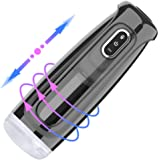Male Masturbator Electric Automatic Vibration Masturbation Cup with 10 Powerful Thrusting Rotating Modes and Female Moans 3D Realistic Vagina Pussy Oral Masturabator sex toys for man