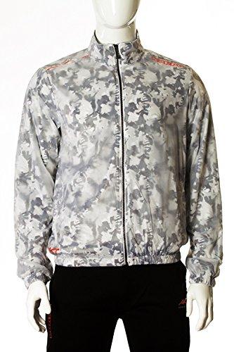 Kappa Men's Akt Velem Jacket, White Camouflage, Small