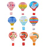 Fityle Set 9 Hot Air Balloon Paper Lantern Lampshade Wedding Party Home Decor 30cm