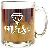 Diamond - Mrs. - Glass Coffee Mug - Makes a Great Gift!