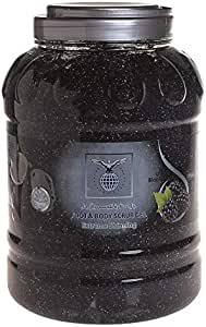 Black Foot and Body Scrub Gel with Berry