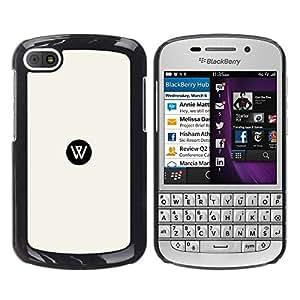 Be Good Phone Accessory // Dura Cáscara cubierta Protectora Caso Carcasa Funda de Protección para BlackBerry Q10 // W dot