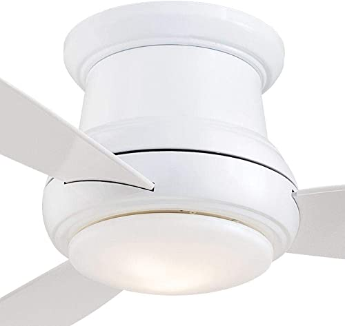 52 Minka Aire Concept II Flush Mount White Ceiling Fan with Remote Control