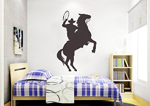 dailinming-pvc-wall-stickers-western-cattle-child-riding-silhouette-glazing-den-home-decoration-gree