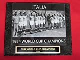 1934 Italy WORLD CUP CHAMPIONS Engraved Collector Plaque w/8x10 RARE Photo