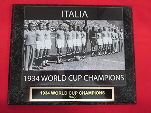 Cup Italy Champions World - 1934 Italy WORLD CUP CHAMPIONS Engraved Collector Plaque w/8x10 RARE Photo