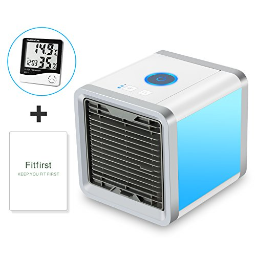 Fitfirst Personal Space Air Cooler, 3 in 1 USB Mini Portable Air Conditioner, Humidifier, Purifier Desktop Cooling Fan(PLEASE CONFIRM ORDER FROM AUTHORIZED Fitfirst DISTRIBUTOR)