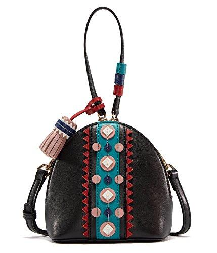 EMINI HOUSE Fashion Niche Bowler Shoulder Bag with Tassels Women Handbag Coin (Bowler Handbag Bag)